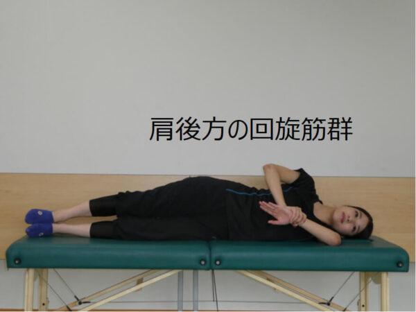 肩関節のインナーマッスルのストレッチ