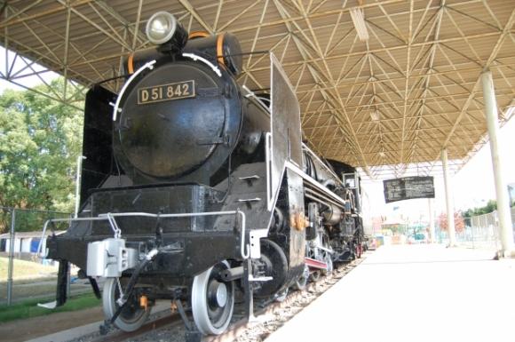 SL(蒸気機関車)展示場